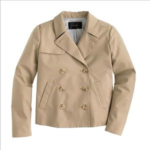 NWT J. Crew Cropped Swing Trench, Size 0
